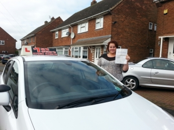 well done you passed your driving test congratulations...