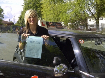 Well done Jody on passing your driving test