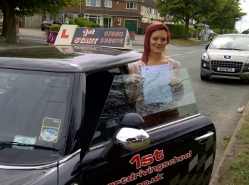 Well done on passing your driving test 3 minor faults...