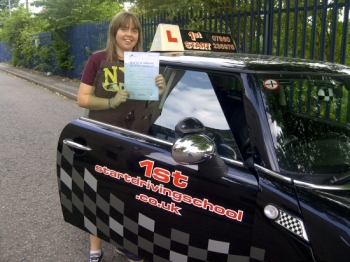 congratulations on passing your driving test with 3 minor faults well done...