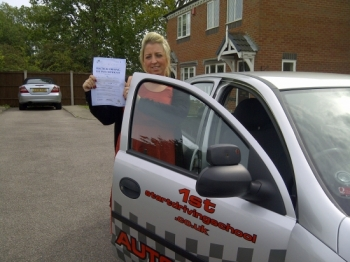 Well done Emma congratulations on passing your driving test...