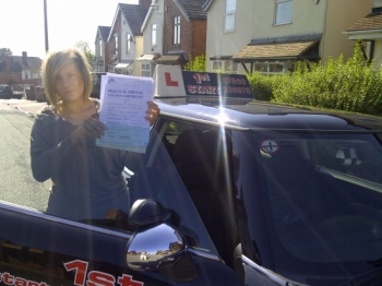 Congratulations on passing your driving test with just 1 minor fault...