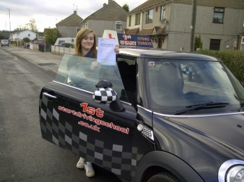 Congratulations on passing your driving test well done...