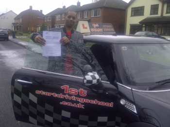 Congratulations on passing your driving test with 2 minor faults well done