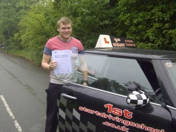 Well done passed your driving test with no faults congratulations....