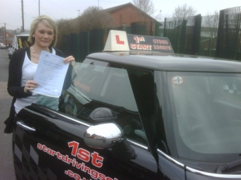 Congratulations on passing your driving test Kerry well done...