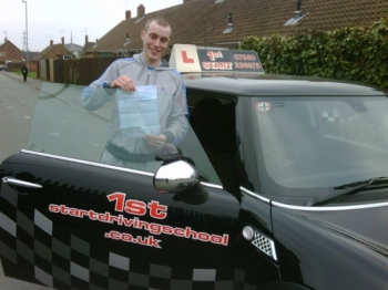 Well done congratulations on passing your driving test...