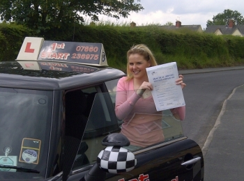 Congratulations on passing your driving test well done....
